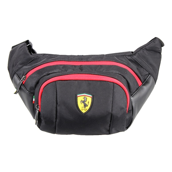 Ferrari Black Waist Bag