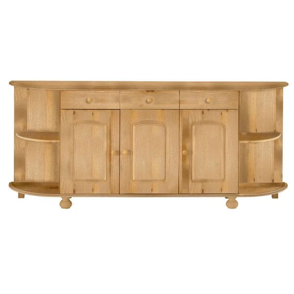 Bretagne Solid Pine Rounded Sideboard
