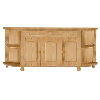 Scandinavian Lifestyle Bretagne Solid Pine Rounded Sideboard