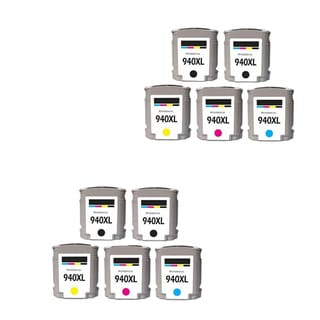 10PK 940 XL 4X BK + 2X C M Y C4906AN C4907AN C4908AN C4909AN Compatible Ink Cartridge For HP Officejet Pro 8000 ( Pack of 10 )