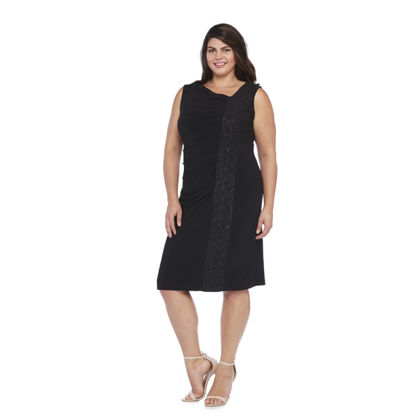 R&M Richards Plus Size Side Panel Dress