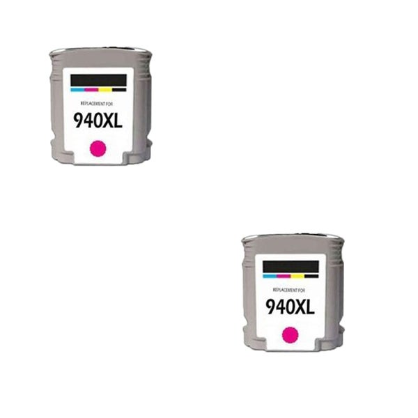 2PK 940 XL M C4908AN Compatible Ink Cartridge For HP Officejet Pro 8000 ( Pack of 2 )
