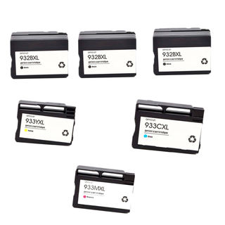 6PK 3 x 932XL BK + 933XL C M Y ( CN053AN - 056AN ) Compatible Ink Cartridge For HP OfficeJet 6600 ( Pack of 6 )