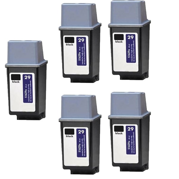 5PK HP 51629 (HP 29) Black Compatible Ink Cartridge For HP DeskJet 600, DeskJet 600c ( Pack of 5 )