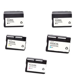 5PK 2 x 932 XL BK + 933XL C M Y ( CN053AN - 056AN ) Compatible Ink Cartridge For HP OfficeJet 6600 ( Pack of 5 )