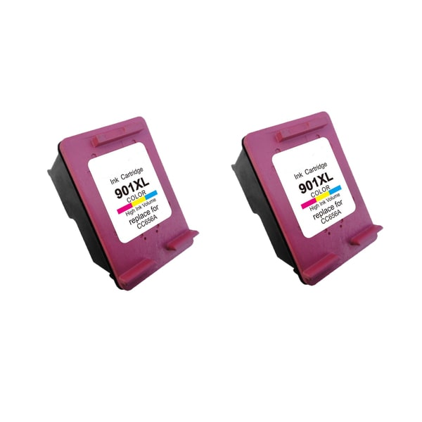 2PK 901XL Tri Color (CC656AN) Compatible Ink Cartridge For HP J4500 J4540 J4550 ( Pack of 2 )