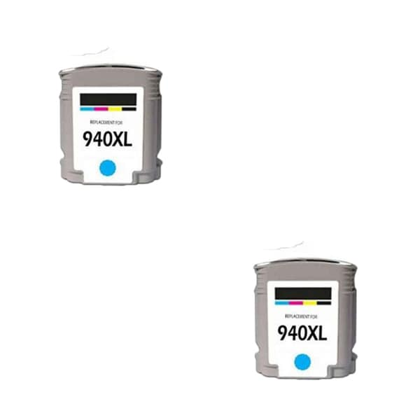 2PK 940XL C C4907AN Compatible Ink Cartridge For HP Officejet Pro 8000 ( Pack of 2 )