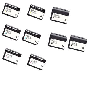 9PK 3 x 932XL BK + 2 x 933XL C M Y ( CN053AN - 056AN ) Compatible Ink Cartridge For HP OfficeJet 6600 ( Pack of 9 )