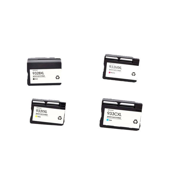 4PK 932XL BK 933XL C M Y ( CN053AN - 056AN ) Compatible Ink Cartridge For HP OfficeJet 6600 ( Pack of 4 )