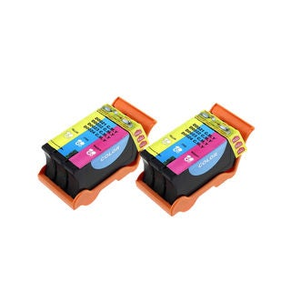 2PK T110N Color (Series 24) Compatible Ink Cartridge For Dell V715W P713W ( Pack of 2 )