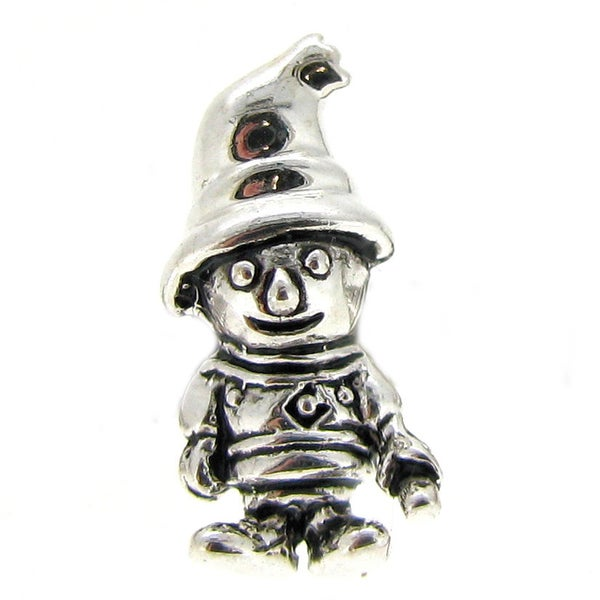 Queenberry Sterling Silver Little boy Halloween European Bead Charm