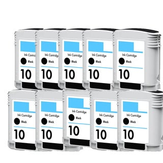 10PK C4844A Black Compatible Ink Cartridge For HP Designjet 1000 1100 1100d ( Pack of 10 )