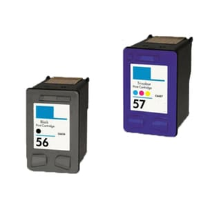 2PK HP C6656 (HP 56) C6657 (HP 57) Compatible Ink Cartridge For HP 3550 5550 5652 Officejet 4110 5510 (Pack of 2)