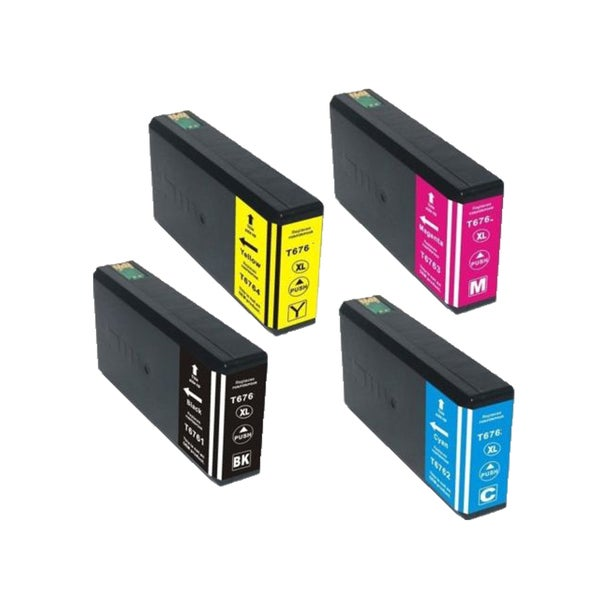4PK ZLT676XL (BK M C Y) Compatible Ink Cartridge For Epson WP-4010 WP-4023 WP-4090 ( Pack of 4 )