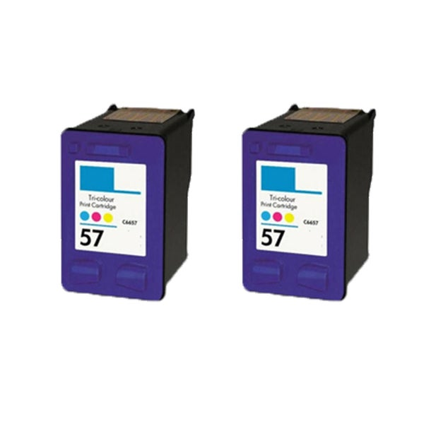 2PK HP C6657 (HP 57) Compatible Ink Cartridge For HP Officejet 4110 5510 6100 6110 (Pack of 2)