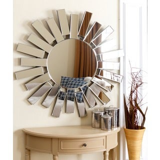 Abbyson Living Jasper Round Wall Mirror