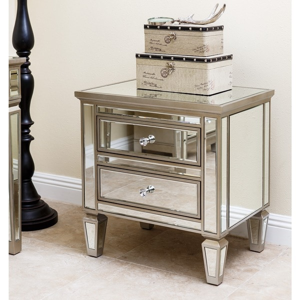 Abbyson Living Omni Mirrored 2 Drawer Chest Overstock