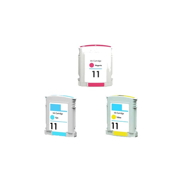 3PK C4836AN - C4838AN ( HP 11 ) C Y M Compatible Ink Cartridge For HP Designjet 1100 2200 2600 CP1700 ( Pack of 3 )