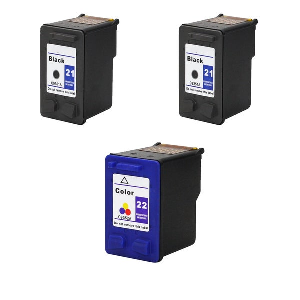 1Set+1BK C9351A XL (HP 21) Black & C9352A XL (HP 22) Color Compatible Ink Cartridge For HP Deskjet 3930 series ( Pack of 3 )
