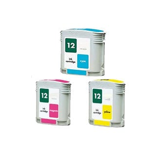 2PK C4804A - C4806A ( HP 12) C Y M Compatible Ink Cartridge For HP Designjet 3000 ( Pack of 3 )