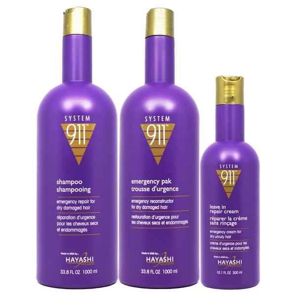 Hayashi System 911 Shampoo/ Repair Cream Emergency Pack