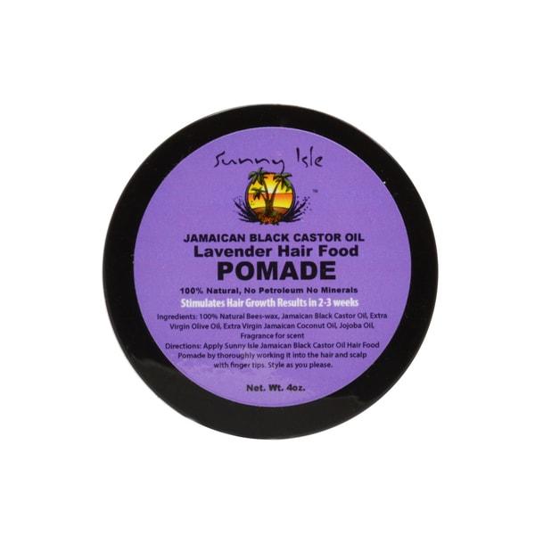 Sunny Isle Lavender Hair Food 4-ounce Jamaican Black Castor Oil Pomade