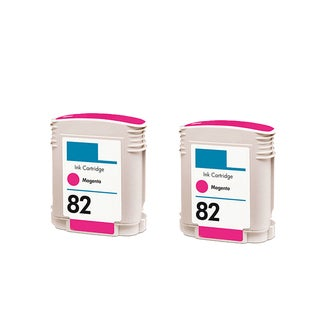 2PK C4912A ( HP 82 ) Magenta Compatible Ink Cartridge For HP Designjet 800 500 ( Pack of 2 )