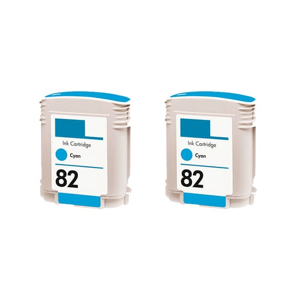 2PK C4911A HP 82 Cyan Compatible Ink Cartridge For HP Designjet 800 500 ( Pack of 2 )