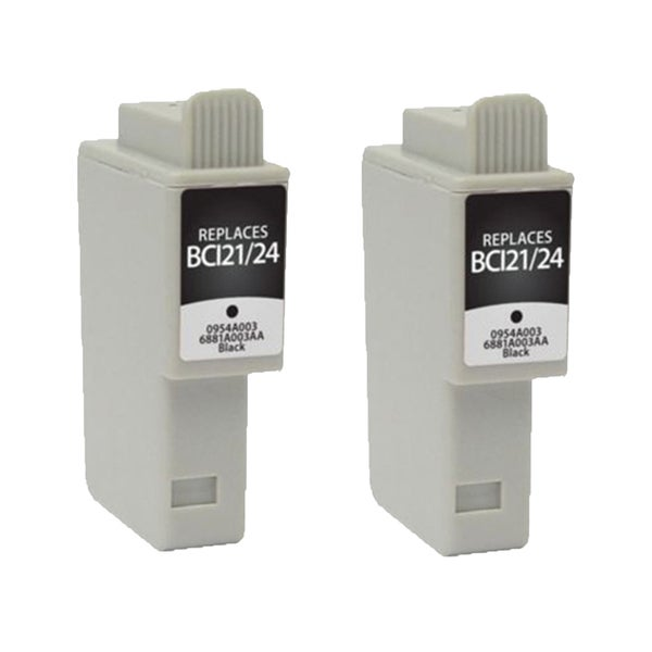 2PK BCI-21B 24B Black Compatible Ink Cartridge For Canon BJCAN 4000 ( Pack of 2 )