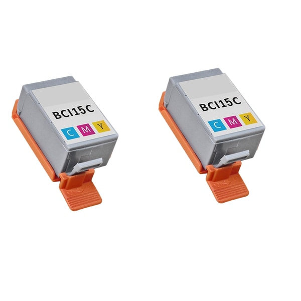 2PK BCI-15C Color Compatible Ink Cartridge For Canon i70 i80 ( Pack of 2 )
