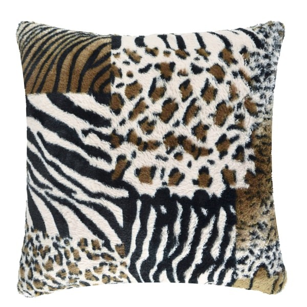 Patchwork Faux Fur Pillow