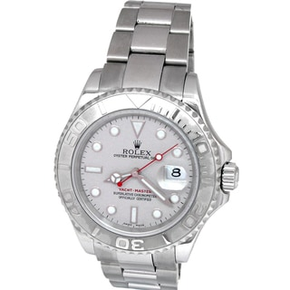 Pre-owned Men's Rolex Stainless Steel Yacthmaster Watch