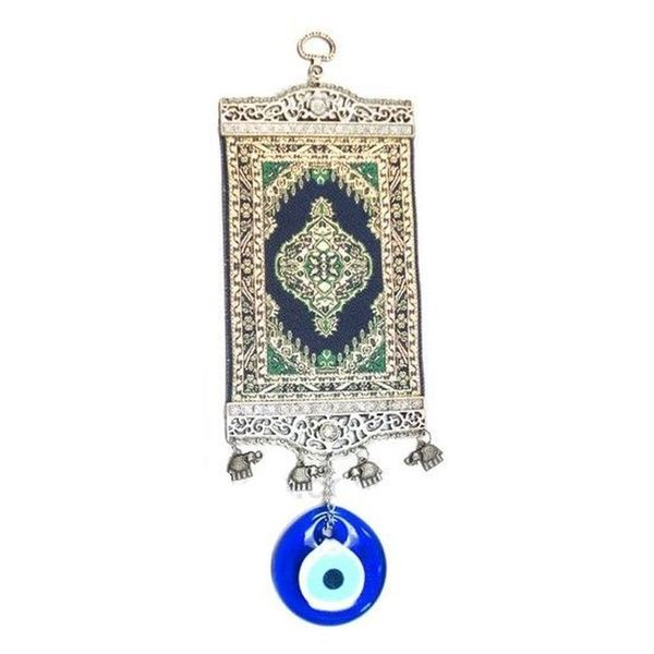 Green Kilim Rug Evil Eye Wall Art
