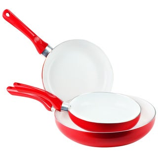 Non-Stick Ceramic Coated 3-piece Fry Pan Set