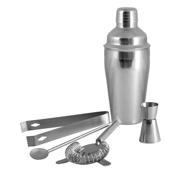 Stainless Steel 5-piece Cocktail Martini Shaker Set