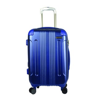 Traveler's Club Calypso 20-inch P.E.T. Expandable Carry-on Double Spinner Suitcase