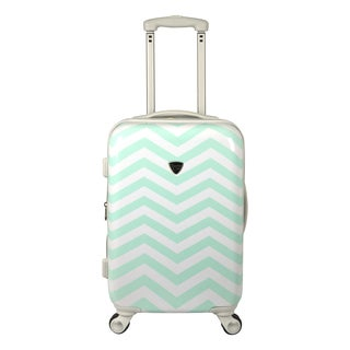 Travelers Club Modern Chevron 20-inch Hardside Expandable Carry-on Spinner Suitcase
