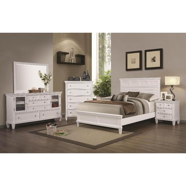 Tucson 6 piece white bedroom set 17684000 overstock for Bedroom 6 piece set