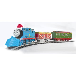 """Bachmann Trains Thomas & Friends Thomas' Christmas Delivery - Large """"G"""" Scale Ready To Run Electric Train Set"""