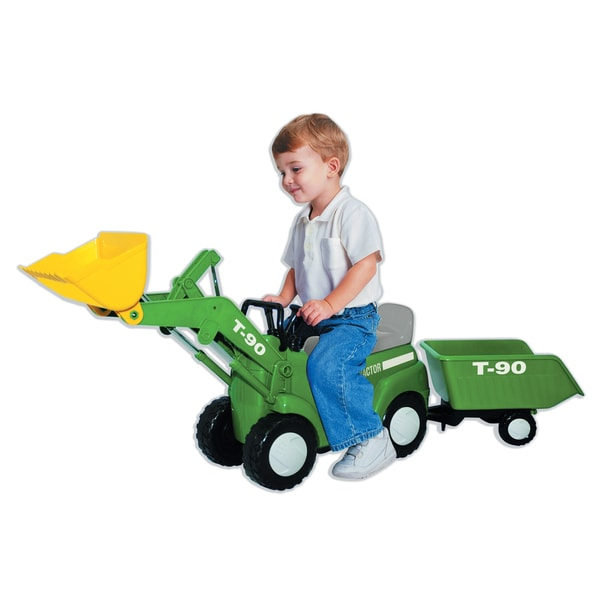 Skyteam Technology Farm Tractor with Big Scoop and Trailer- Ride-On