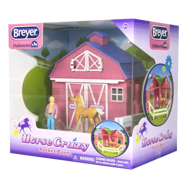 BREYER Stablemates Horse Crazy Pocket Barn 16343665