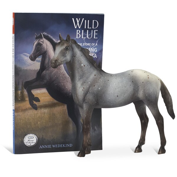 BREYER Horse Figurine and Book Set, Wild Blue 16343668