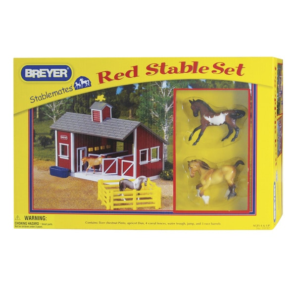 BREYER Stablemates Red Stable Play Set 16343672