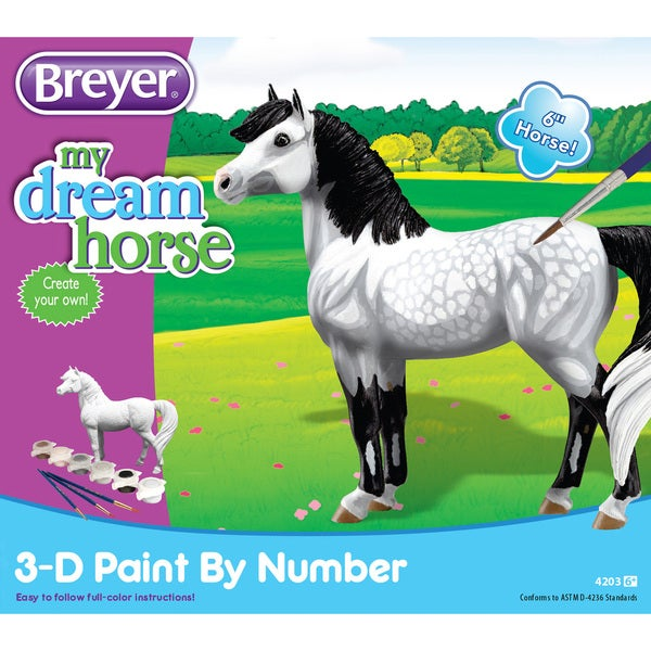 """BREYER My Dream Horse 3D Paint By Number Activity Set - 6"""" Horse 16343733"""