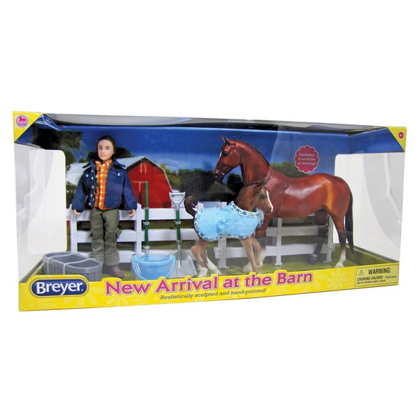 BREYER Classics New Arrival At The Barn Horse Set
