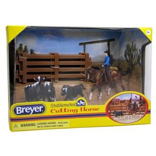 BREYER Stablemates Cutting Horse Play Set