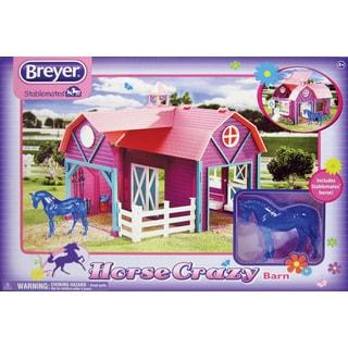 BREYER Stablemates Horse Crazy Barn Play Set