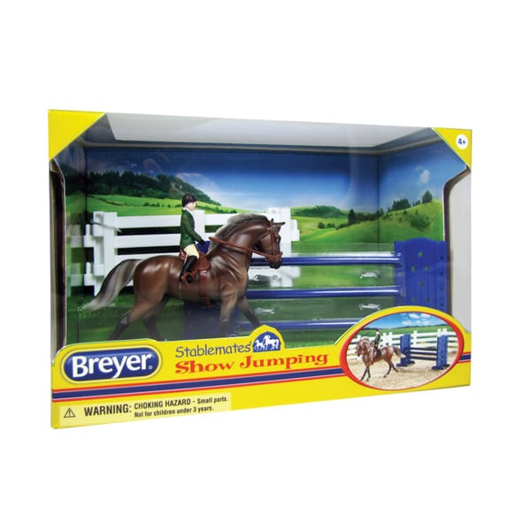 BREYER Stablemates Show Jumping Horse Play Set