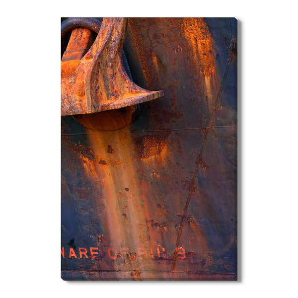 Anchor Pour Print by Wyn Bielaska on Canvas Gallery Wrap