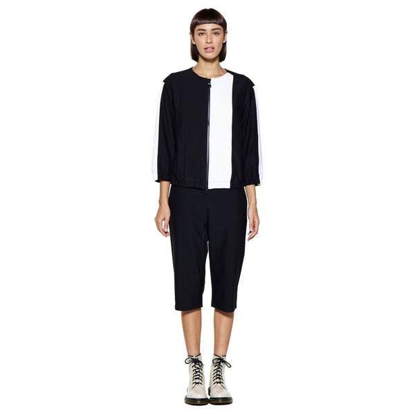 Women's 3/4 Sleeve Black/ White Service Jacket